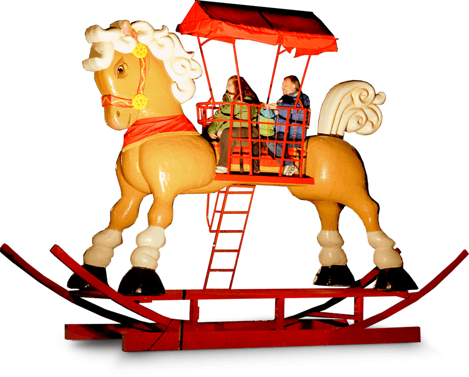 artificial ice events world s largest rocking horse photo op for
